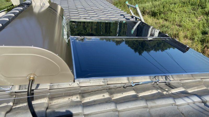 【倉敷市児島の電器屋さん】太陽熱温水器の取替工事