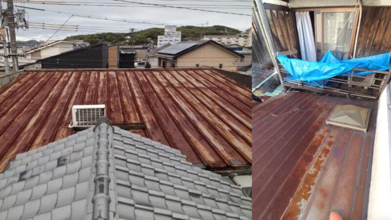 【倉敷市児島の電器屋さん】<br>屋根の張替え